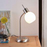 LED-bordslampan Manon med opalvit glasskärm