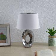 Lindby Alenja bordslampa av keramik och tyg