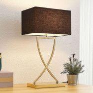 Lucande Evaine bordslampa mässing skärm svart