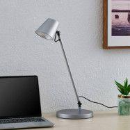 Lucande Kenala LED-bordslampa, silver