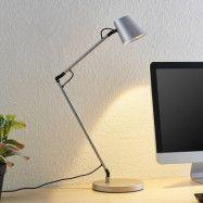 Lucande Tarris LED-bordslampa, silver