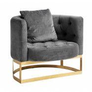 Lounge fåtölj Grå