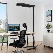 Arcchio Ameir LED-golvlampa till kontor, filt grå