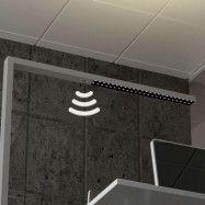 LED-kontors-golvlampa Jolinda m sensor och dimmer