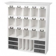 Ib Laursen Wallhang shelf 19 rooms and 6 drawers