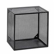 Wire Vägghylla kvadratisk Svart