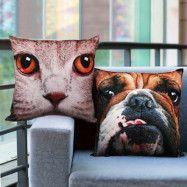 Katt och hund kudde (Design: Katt)