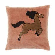 Kuddfodral Horse rosa 50x50