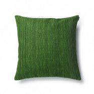 Kuddfodral Varvunraita grön 50x50