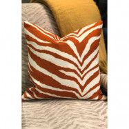 Kuddfodral Zebra 50x50 orange