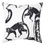Lisa Bengtsson Funky Monkey svart kudde - 2-pack, 60x60