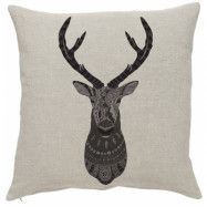 Nordal Kuddfodral hjort 45x45 cm - Beige