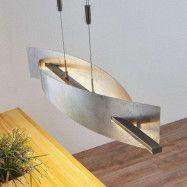 LED-hänglampa Marija, lodrät kåpa, silver