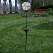 LED-solcellslampa Glory, markspett