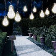 Soldriven LED-ljusslinga 33708-10 i silvrig metall