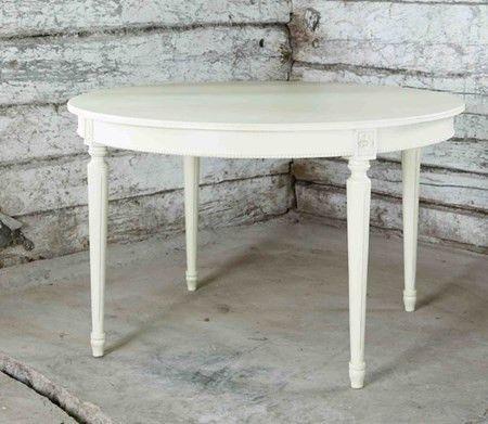 Allinwood Pärla rund matbord – Kritvit Inredningbutiken