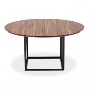 Jewel table Walnut, Black