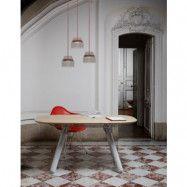 La Chance Magnum matbord – Bok/metall/marmor