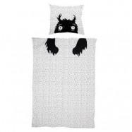 Bloomingville Monster Kids Sängkläder Vit Bomull 140x200/63x60cm