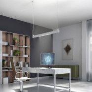Arcchio Ingura LED-pendellampa för kontor, vit