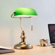 Milenka - skrivbordslampa med grön skärm