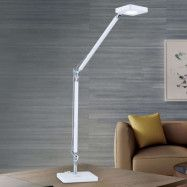 Qi-kompatibel LED-skrivbordslampa Dave i vitt