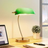 Selea – bankirlampa med grön skärm