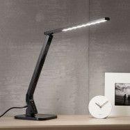 Svart LED-skrivbordslampa Eleni