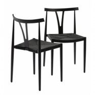 Dan Form Denmark Alfa stol – Vit metall, naturfärgad sits