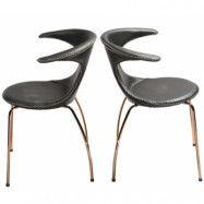 Dan Form Denmark Flair chair - Svart/guld