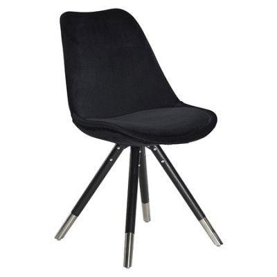 Dan Form Denmark Orso velvet stol – Svart, svarta ben