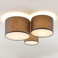 Lindby Laurenz taklampa, 3 lampor, grå