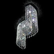 Svängd kristalltaklampa Shine