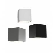 Cube Mini LED Vägglampe/Utomhus Lampa - LIGHT-POINT (Downlight, Svart)