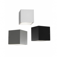 Cube Mini LED Vägglampe Down Silver - Light Point