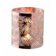 Dorre Lykta koppar med glasrör mönster höjd 10 cm