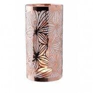 Dorre Lykta koppar med glasrör mönster höjd 20 cm