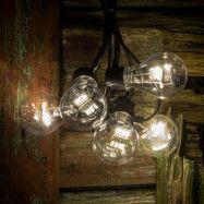 LED-ljusslinga glödtråds-look, varmvit 5 lampor