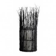 Lykta Bambu 45x16 cm Svart