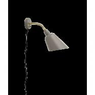 Bellevue Vägglampa AJ9 Grå Beige & Mässing - &tradition