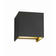 Box XL Vägglampa Svart/Guld - LIGHT-POINT