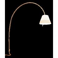 Lady Costanza Golvlampa/Vägglampa - Luceplan (Vit, Alu, Med dimmer)