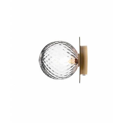 Liila 1 Vägglampa/Plafond Nordic Gold/Optic Clear - Nuura