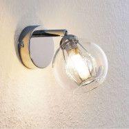 Lindby Pranas LED-väggspot med glasskärm