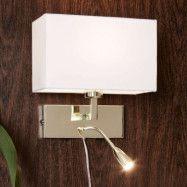 Med LED-läslampa – vägglampa Savoy